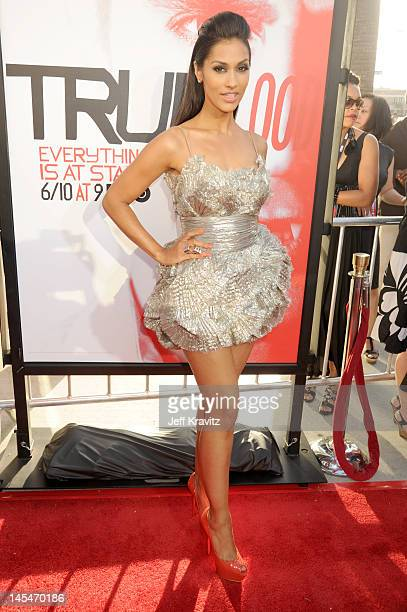 Actress Janina Gavankar arrives at HBO 'True Blood' season 5 premiere held at ArcLight Cinemas Cinerama Dome on May 30 2012 in Hollywood California