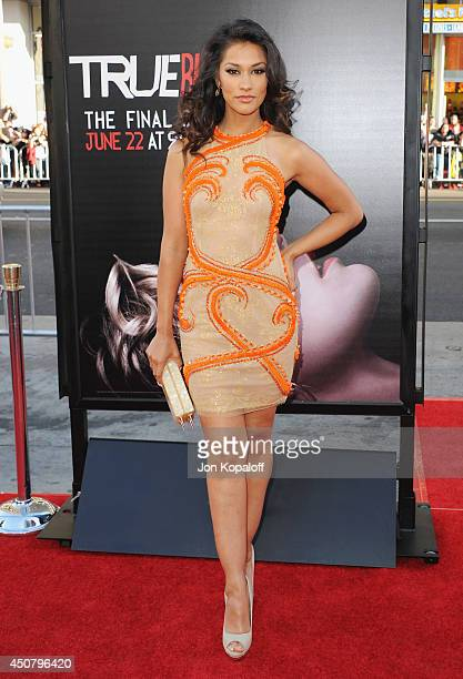 Actress Janina Gavankar arrives at HBO's 'True Blood' Final Season Premiere at TCL Chinese Theatre on June 17 2014 in Hollywood California