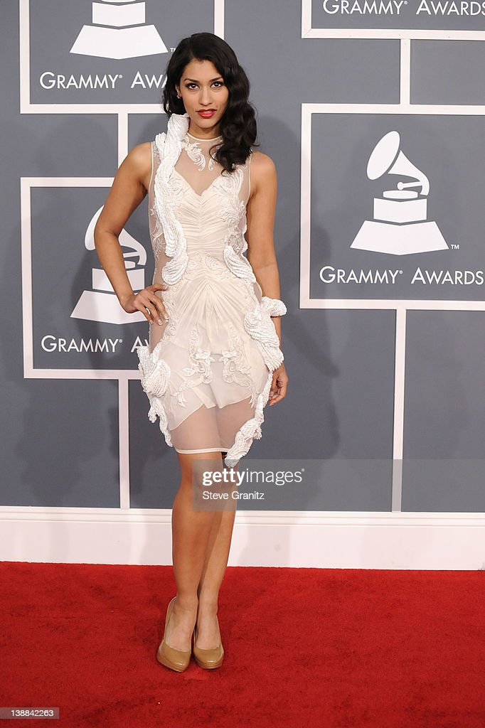 Actress Janina Gavankar arrives at The 54th Annual GRAMMY Awards at Staples Center on February 12, 2012 in Los Angeles, California.