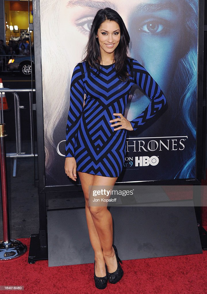 Actress Janina Gavankar arrives at the Los Angeles Premiere of HBO's 'Game Of Thrones' Season 3 at TCL Chinese Theatre on March 18, 2013 in Hollywood, California.