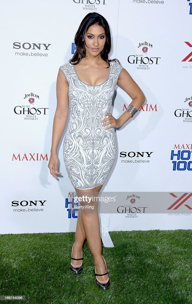 Actress <a gi-track='captionPersonalityLinkClicked' href=/galleries/search?phrase=Janina+Gavankar&family=editorial&specificpeople=4108619 ng-click='$event.stopPropagation()'>Janina Gavankar</a> arrives at the Maxim 2013 Hot 100 Party held at Create on May 15, 2013 in Hollywood, California.