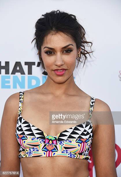 Actress Janina Gavankar arrives at Tubeathon 2016 at the iHeartRadio Theater on April 20 2016 in Burbank California