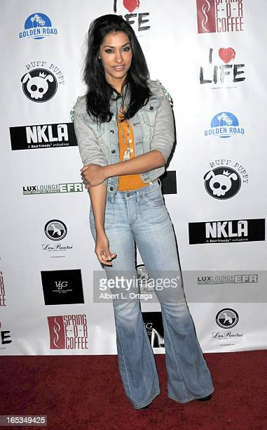 Actress Janina Gavankar arrives for the No Kill LA Charity Event held at Fred Segal on April 2 2013 in West Hollywood California