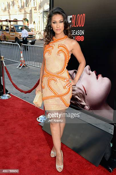 Actress Janina Gavankar attends HBO 'True Blood' season 7 premiere at TCL Chinese Theatre on June 17 2014 in Hollywood California