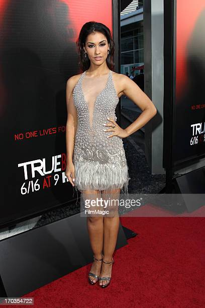 Actress Janina Gavankar attends HBO's 'True Blood' season 6 premiere at ArcLight Cinemas Cinerama Dome on June 11 2013 in Hollywood California