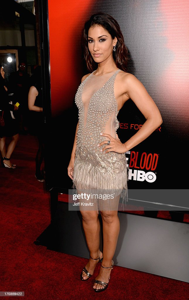 Actress <a gi-track='captionPersonalityLinkClicked' href=/galleries/search?phrase=Janina+Gavankar&family=editorial&specificpeople=4108619 ng-click='$event.stopPropagation()'>Janina Gavankar</a> attends HBO's 'True Blood' season 6 premiere at ArcLight Cinemas Cinerama Dome on June 11, 2013 in Hollywood, California.