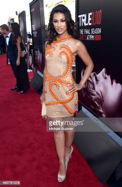 Actress Janina Gavankar attends Premiere Of HBO's 'True Blood' Season 7 And Final Season at TCL Chinese Theatre on June 17 2014 in Hollywood...