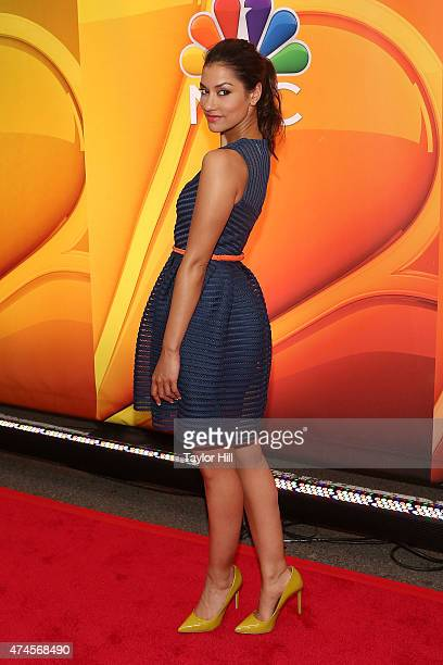Actress Janina Gavankar attends the 2015 NBC upfront presentation red carpet event at Radio City Music Hall on May 11 2015 in New York City