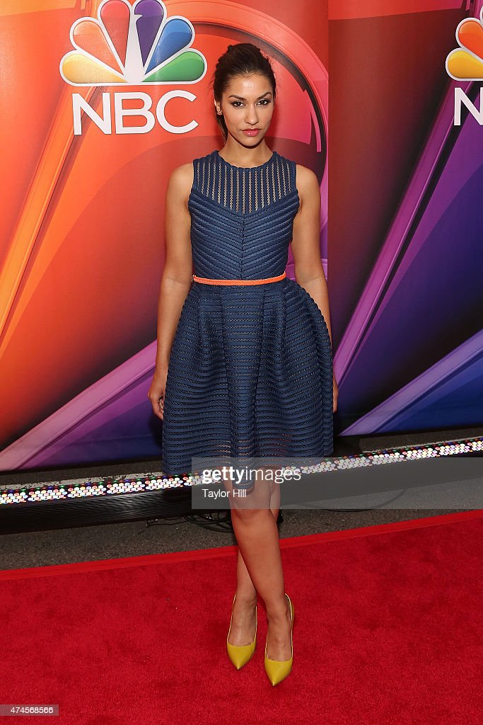 Actress Janina Gavankar attends the 2015 NBC upfront presentation red carpet event at Radio City Music Hall on May 11, 2015 in New York City.