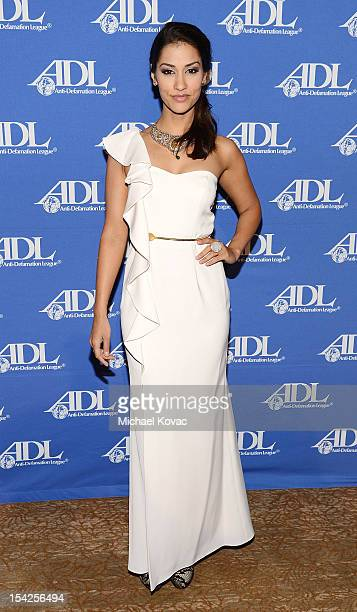 Actress Janina Gavankar attends the AntiDefamation League Entertainment Industry Awards Dinner Honoring David Weil And Rob Lowe at The Beverly Hilton...