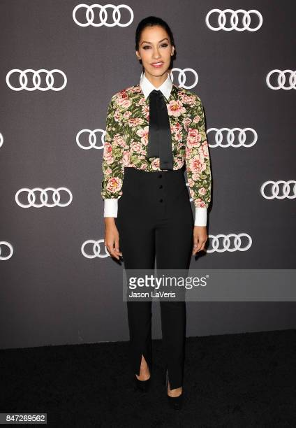 Actress Janina Gavankar attends the Audi celebration for the 69th Emmys at The Highlight Room at the Dream Hollywood on September 14 2017 in...