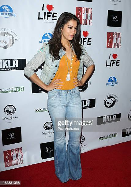 Actress Janina Gavankar attends the No Kill LA charity event at Fred Segal on April 2 2013 in West Hollywood California
