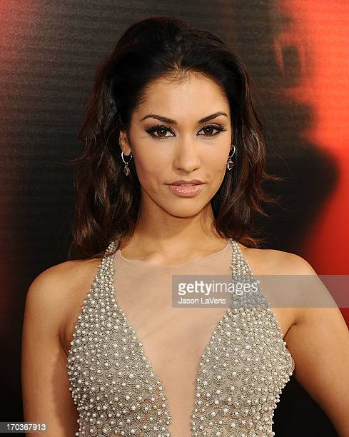 Actress Janina Gavankar attends the season 6 premiere of HBO's 'True Blood' at ArcLight Cinemas Cinerama Dome on June 11 2013 in Hollywood California