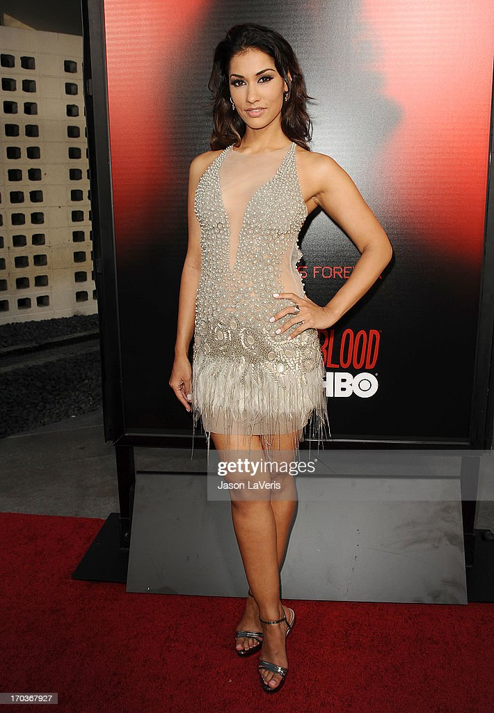 Actress Janina Gavankar attends the season 6 premiere of HBO's 'True Blood' at ArcLight Cinemas Cinerama Dome on June 11, 2013 in Hollywood, California.