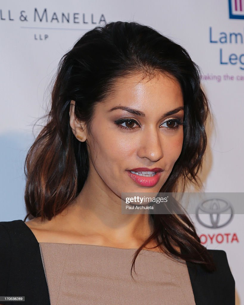 Actress <a gi-track='captionPersonalityLinkClicked' href=/galleries/search?phrase=Janina+Gavankar&family=editorial&specificpeople=4108619 ng-click='$event.stopPropagation()'>Janina Gavankar</a> attends the West Coast Liberty Awards celebrating Lambda Legal's 40th anniversary at The London Hotel on June 13, 2013 in West Hollywood, California.