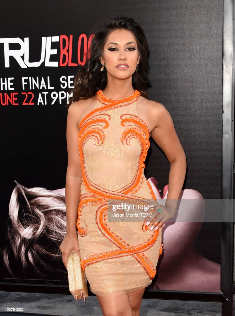 Actress <a gi-track='captionPersonalityLinkClicked' href=/galleries/search?phrase=Janina+Gavankar&family=editorial&specificpeople=4108619 ng-click='$event.stopPropagation()'>Janina Gavankar</a> ttends the premiere of HBO's 'True Blood' season 7 and final season at TCL Chinese Theatre on June 17, 2014 in Hollywood, California.