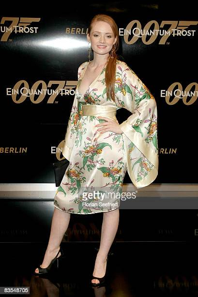 Actress Janina Stopper attends the Berlin premiere of 'Quantum Of Solace' November 03 2008 in Berlin Germany