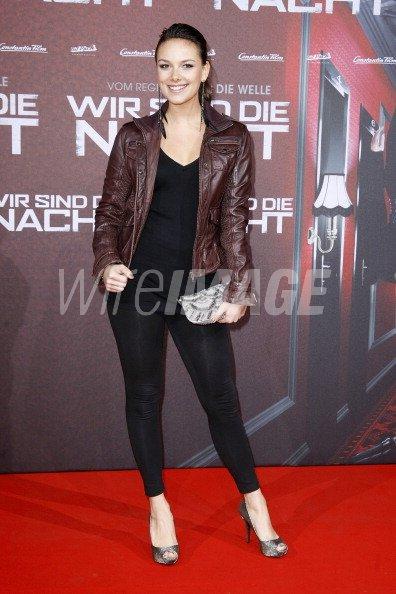 Actress Janina Uhse attends the Wir sind die Nacht