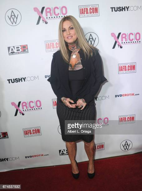 Actress Janine Lindemulder arrives for the 33rd Annual XRCO Awards Show held at OHM Nightclub on April 27 2017 in Hollywood California
