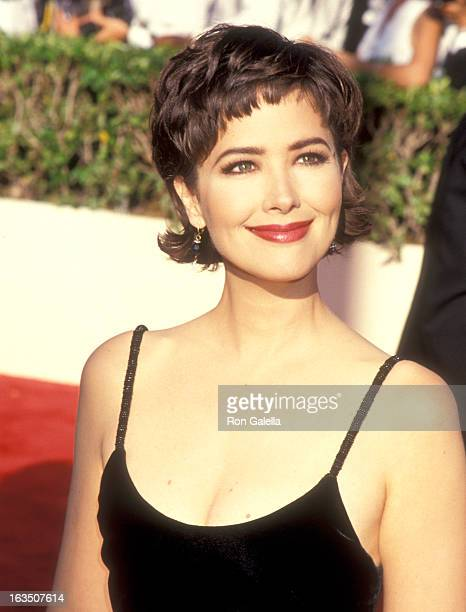 Actress Janine Turner attends the 45th Annual Primetime Emmy Awards on September 19 1993 at Pasadena Civic Auditorium in Pasadena California