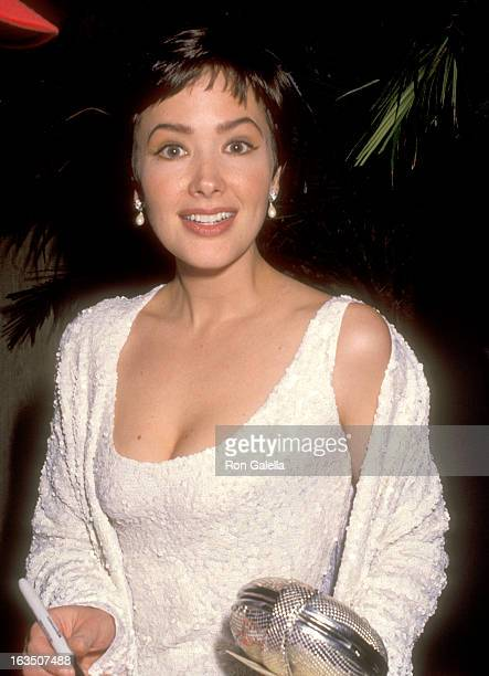 Actress Janine Turner attends the 49th Annual Golden Globe Awards on January 18 1992 at Beverly Hilton Hotel in Beverly Hills California