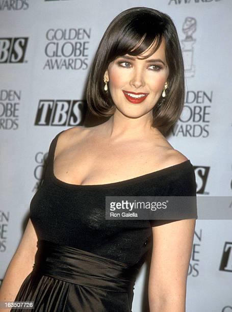 Actress Janine Turner attends the 52nd Annual Golden Globe Awards on January 21 1995 at Beverly Hilton Hotel in Beverly Hills California