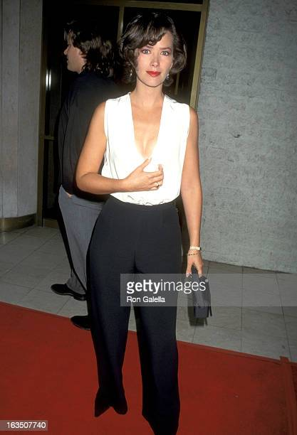 Actress Janine Turner attends the 'Desperado' Westwood Premiere on August 21 1995 at Mann National Theatre in Westwood California