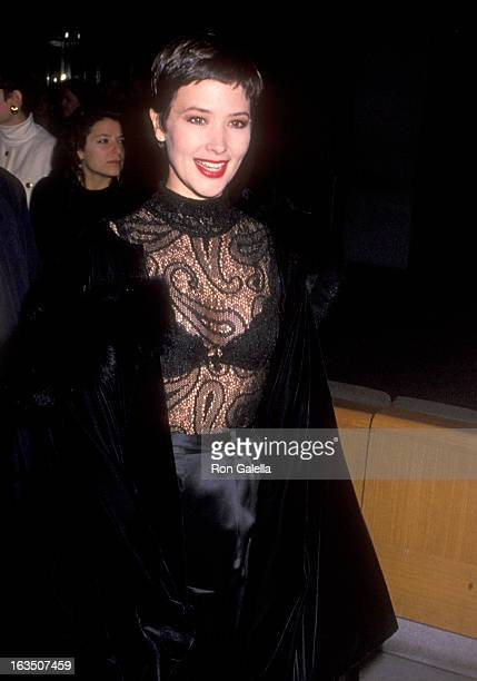 Actress Janine Turner attends the 'Hamlet' New York City Premiere on December 11 1990 at Museum of Modern Art in New York City New York