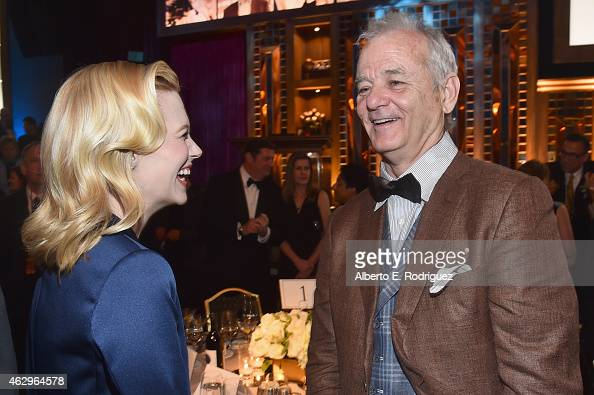 Actress January Jones and actor Bill Murray attend the 67th Annual Directors Guild Of America Awards at the Hyatt Regency Century Plaza on February 7...