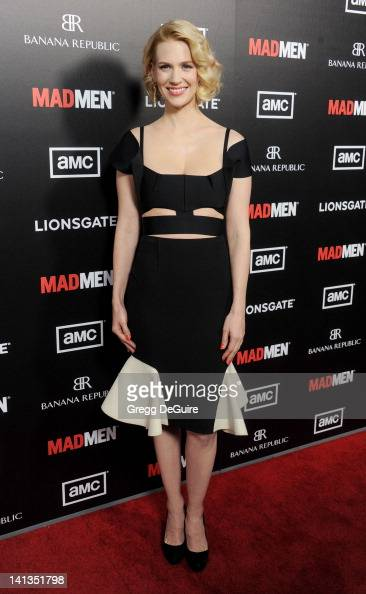Actress January Jones arrives at AMC's 'Mad Men' Season 5 Premiere at ArcLight Cinemas Cinerama Dome on March 14 2012 in Hollywood California