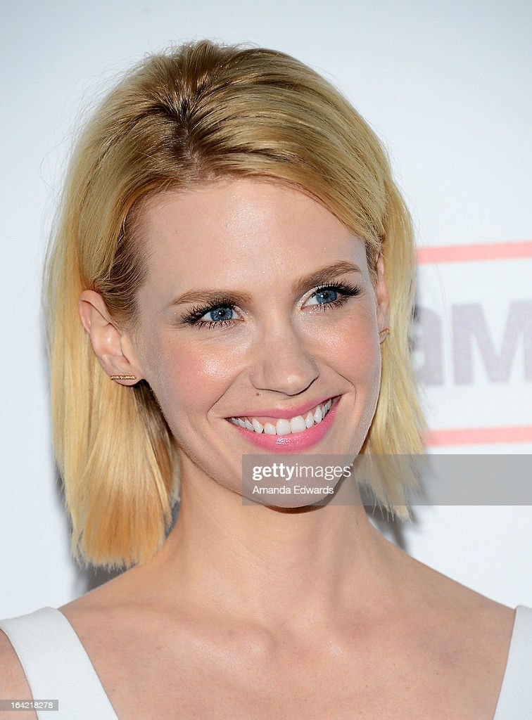 Actress January Jones arrives at AMC's 'Mad Men' Season 6 Premiere at the DGA Theater on March 20, 2013 in Los Angeles, California.