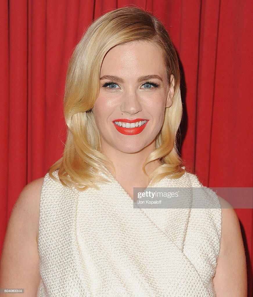 Actress January Jones arrives at the 16th Annual AFI Awards on January 8 2016 in Los Angeles California