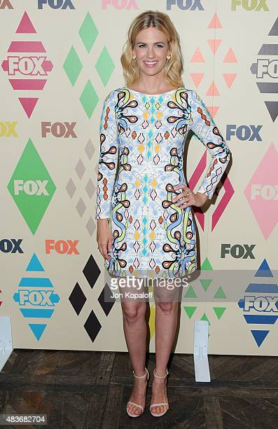Actress January Jones arrives at the 2015 Summer TCA Tour FOX AllStar Party at Soho House on August 6 2015 in West Hollywood California