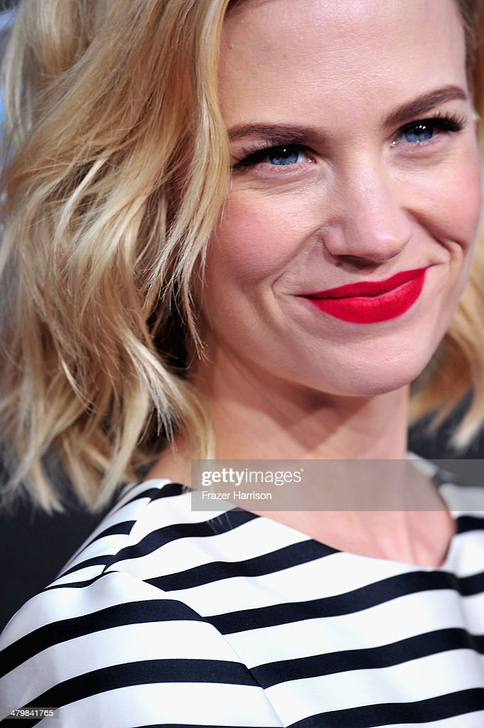 Actress <a gi-track='captionPersonalityLinkClicked' href=/galleries/search?phrase=January+Jones&family=editorial&specificpeople=212949 ng-click='$event.stopPropagation()'>January Jones</a> arrives at the 2nd Annual Rebels With A Cause Gala at Paramount Studios on March 20, 2014 in Hollywood, California.