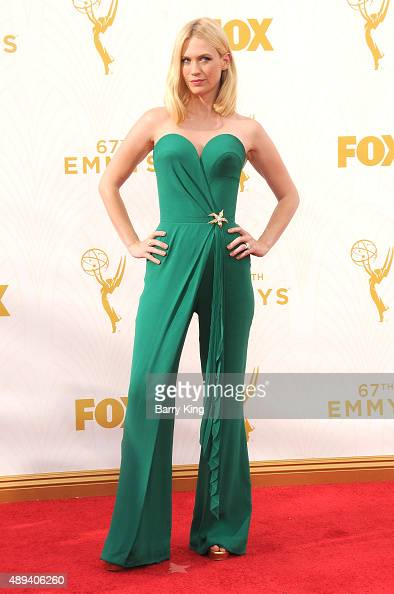 Actress January Jones arrives at the 67th Annual Primetime Emmy Awards at the Microsoft Theater on September 20 2015 in Los Angeles California