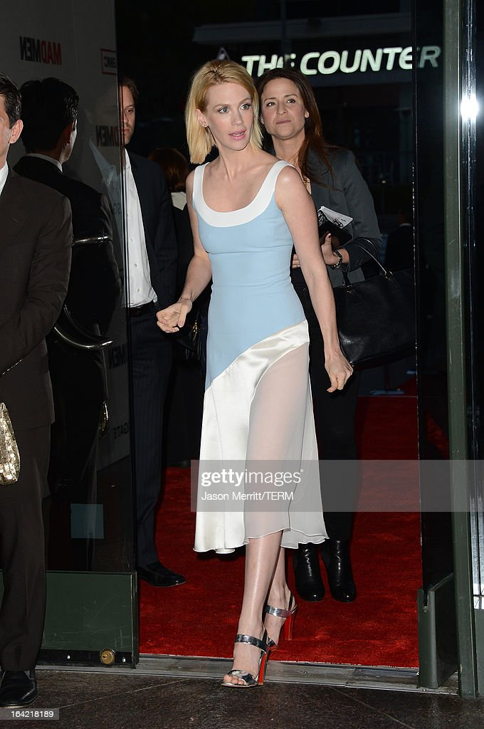 Actress January Jones arrives at the Premiere of AMC's 'Mad Men' Season 6 at DGA Theater on March 20, 2013 in Los Angeles, California.