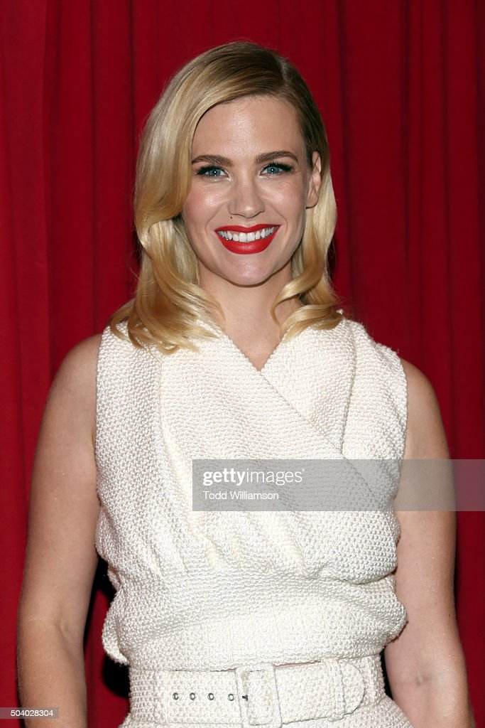 Actress January Jones attends the 16th Annual AFI Awards at Four Seasons Hotel Los Angeles at Beverly Hills on January 8, 2016 in Beverly Hills, California.
