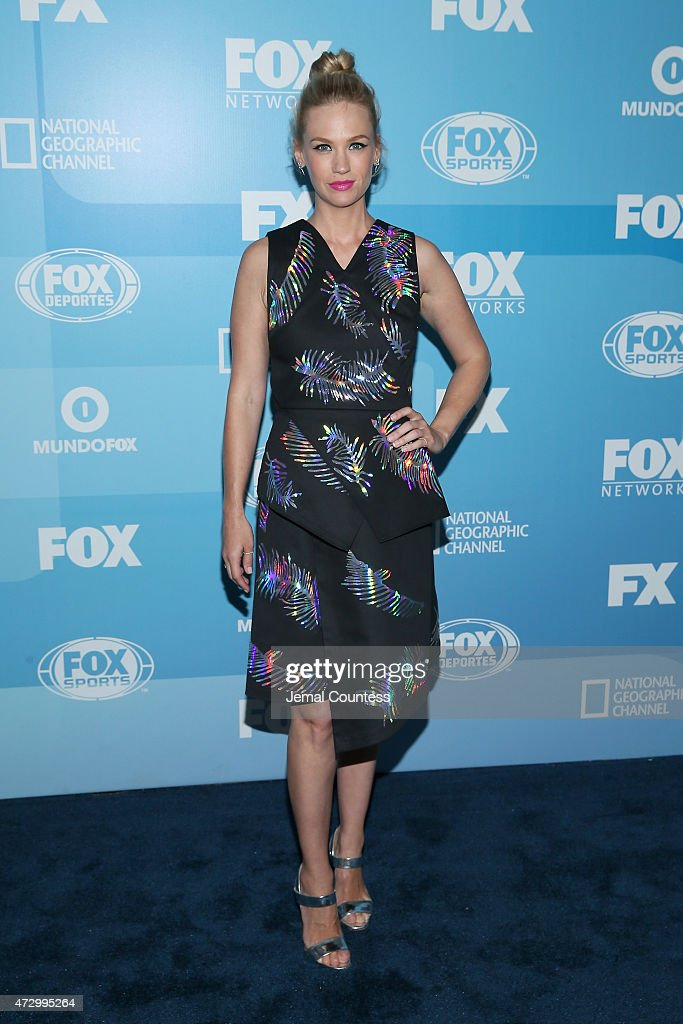 Actress January Jones attends the 2015 FOX programming presentation at Wollman Rink in Central Park on May 11, 2015 in New York City.
