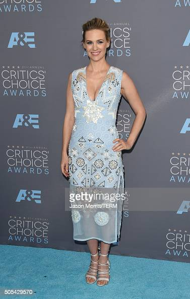 Actress January Jones attends the 21st Annual Critics' Choice Awards at Barker Hangar on January 17 2016 in Santa Monica California