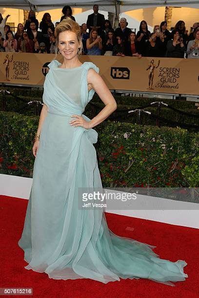 Actress January Jones attends the 22nd Annual Screen Actors Guild Awards at The Shrine Auditorium on January 30 2016 in Los Angeles California