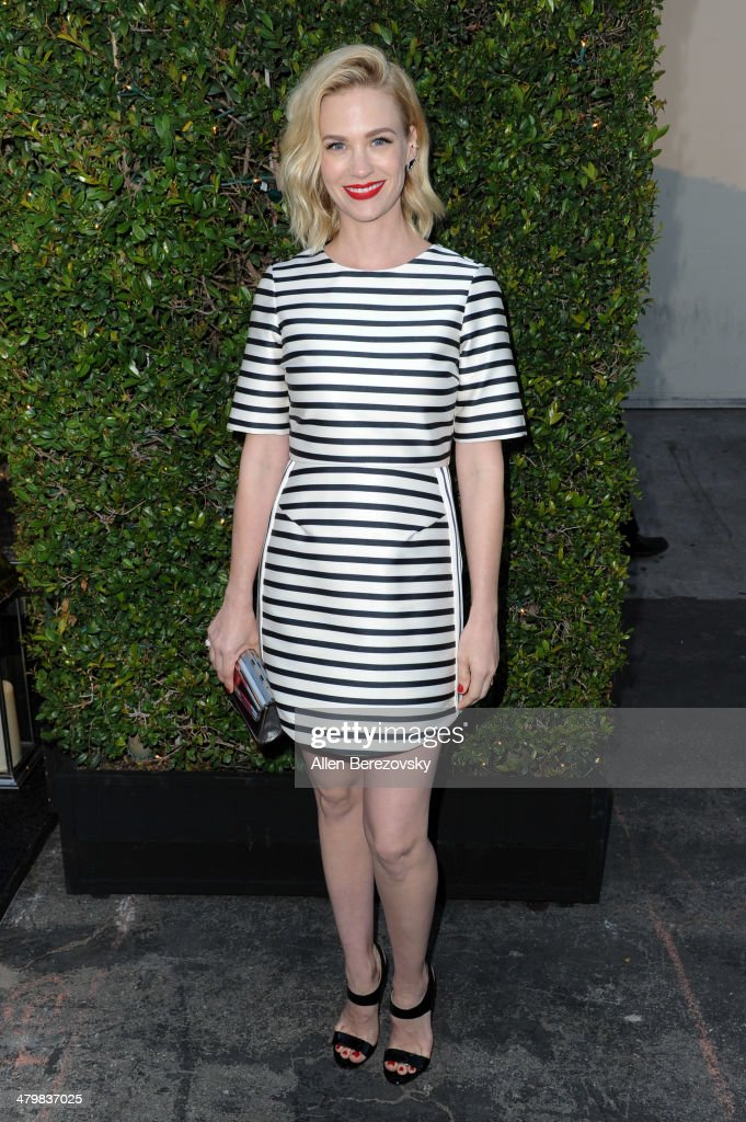 Actress <a gi-track='captionPersonalityLinkClicked' href=/galleries/search?phrase=January+Jones&family=editorial&specificpeople=212949 ng-click='$event.stopPropagation()'>January Jones</a> attends the 2nd Annual Rebel With A Cause Gala cocktail reception at Paramount Studios on March 20, 2014 in Hollywood, California.