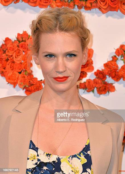 Actress January Jones attends the 3rd Annual Coach Evening to benefit Children's Defense Fund at Bad Robot on April 10 2013 in Santa Monica California