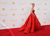 Actress January Jones attends the 66th Annual Primetime Emmy Awards held at Nokia Theatre LA Live on August 25 2014 in Los Angeles California