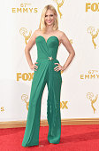 Actress January Jones attends the 67th Annual Primetime Emmy Awards at Microsoft Theater on September 20 2015 in Los Angeles California