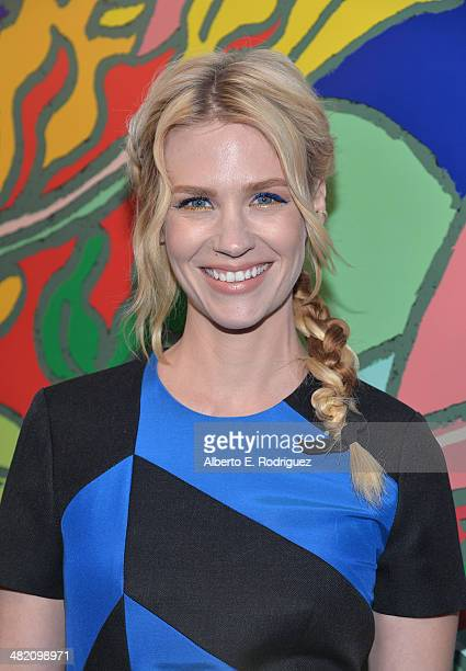 Actress January Jones attends the AMC celebration of the 'Mad Men' season 7 premiere at ArcLight Cinemas on April 2 2014 in Hollywood California