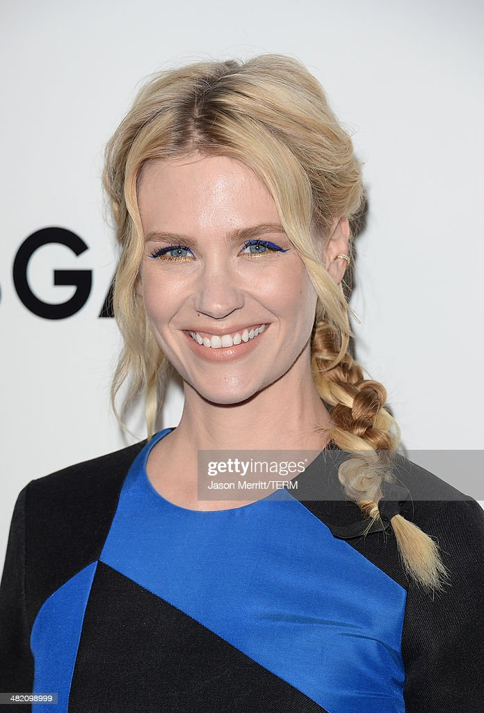 Actress <a gi-track='captionPersonalityLinkClicked' href=/galleries/search?phrase=January+Jones&family=editorial&specificpeople=212949 ng-click='$event.stopPropagation()'>January Jones</a> attends the AMC celebration of the 'Mad Men' season 7 premiere at ArcLight Cinemas on April 2, 2014 in Hollywood, California.