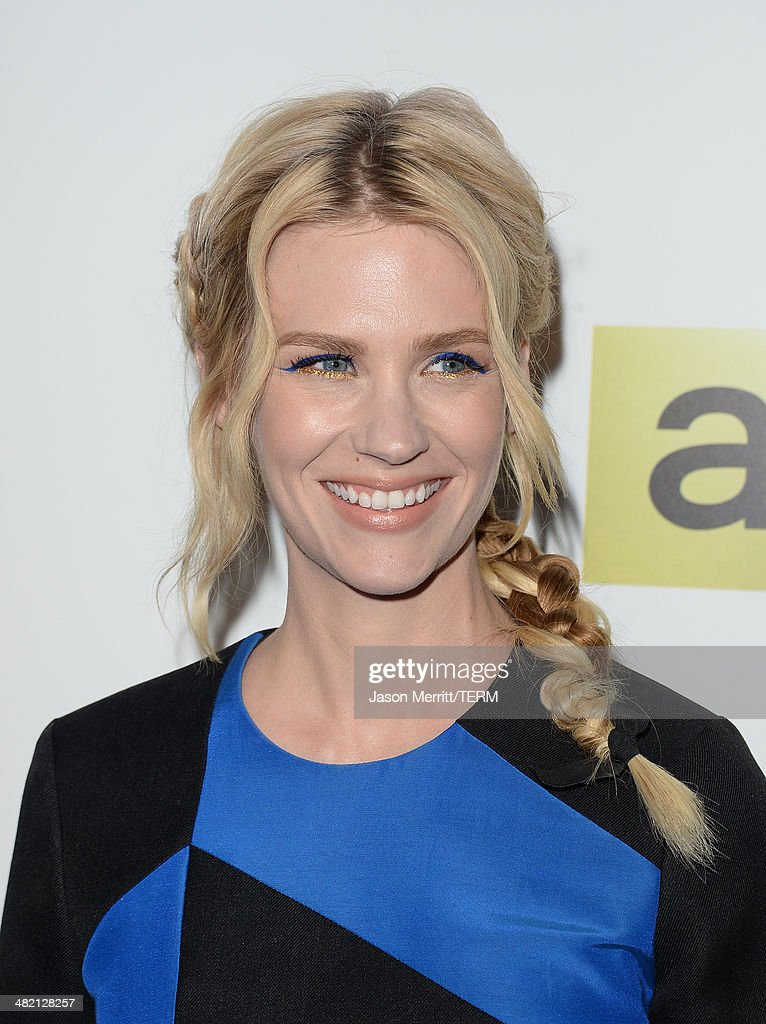 Actress January Jones attends the AMC celebration of the 'Mad Men' season 7 premiere at ArcLight Cinemas on April 2, 2014 in Hollywood, California.