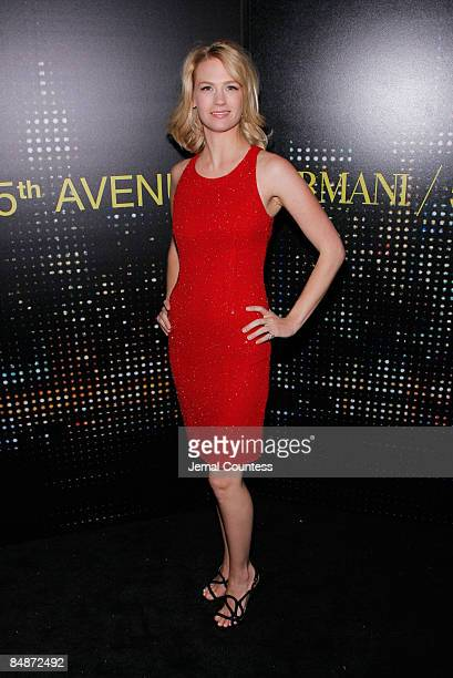 Actress January Jones attends the Armani / 5th Avenue store opening at Armani / 5th Avenue on February 17 2009 in New York City