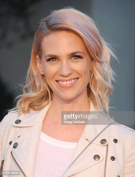 Actress January Jones attends the Burberry 'London in Los Angeles' event at Griffith Observatory on April 16 2015 in Los Angeles California