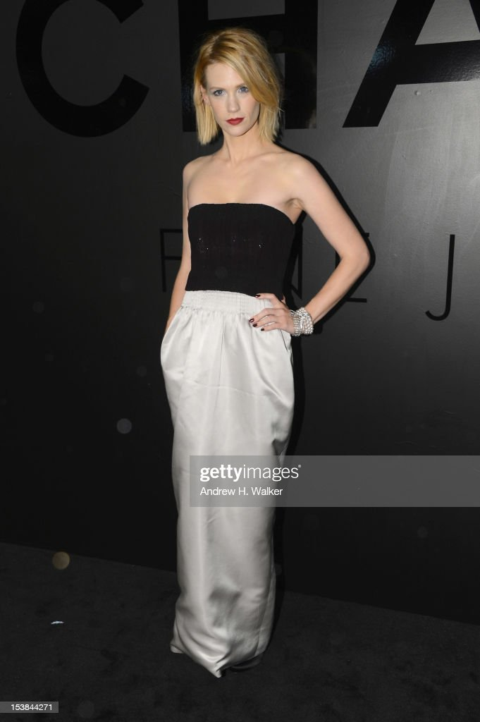 Actress January Jones attends the celebration of CHANEL FINE JEWELRY'S 80th anniversary of the 'Bijoux De Diamants' collection created by Gabrielle Chanel on October 9, 2012 in New York City.